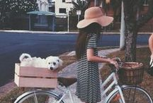 Cycling in style / Your bike is your next best accessory. Cycling has never looked so chic