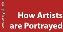 How Artist's are Portrayed / Ever wonder why people think about artists in certain ways? This is a collection of ads, images, movie clips etc. that depict artists in mostly stereotypical ways. A look into the history of how artists are represented. A collaboration with Jeff Gates and Karen Atkinson.