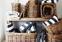 Styling with Baskets / I love using baskets in decorating. They can be used to organize and for storage in a room as well as the character they bring. I like them best when several are used together. They bring back the reminder of days when they were used to gather fruit or flowers from the garden. / by Barbara Ward
