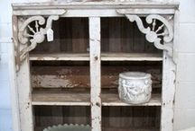 Vintage White Armoires / I have a weakness for white cabinetry!  All kinds!  Yummmm...