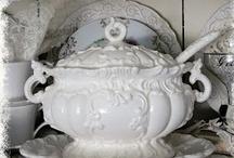 Vintage White Tableware