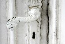 Vintage White Architecture / Beautiful, scrolly, white vintage architectural elements!