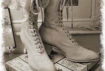 Victorian Edwardian Boots / Pretty Old Boots that fit tiny feet! :)