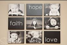 Wall Displays That WOW / Beautiful groupings of family photos, sets of coordinated framed art or displays of sentimental words all add personal touches that make your house your home. Add these ideas to your own boards and turn boring bare walls into conversation pieces.