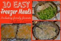 Freezer Cooking Recipes / Tips and recipes for delicious meals for your family - already cooked!