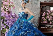 Stella-de-Libero gowns / beautiful art work as ball gowns