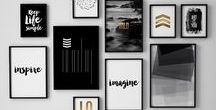 Bilderwand / Inspirationen, um Bilder in Szene zu setzen.