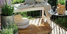 Balkon & Terrasse / Schöne Ideen für eine Sommernacht auf dem Balkon.