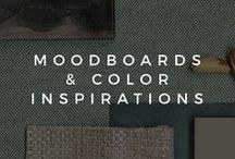 MOODBOARDS AND COLOR INSPIRATIONS / Moodboards and color inspirations for your interior design projects, be it Professional or DIY. Inspire yourself and turn your house into a comfortable home!