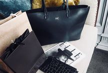 #thattotelife / Personalised monogrammed leather tote bag