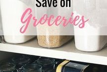 Saving on Groceries // / Awesome tips to save on groceries, be wise with your food budget and stop wasting food. Grocery Hacks | Stockpiling | Meal Planning | Eliminate Food Waste | Frugal Meals
