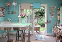 c r a f t~r o o m / craft and sewing spaces / by Belleviolette Rubyrose