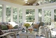 Deco. - Sunrooms/Sunporchs / Sunroom or porch inspirations / by Sally Wheeler