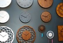 NeXtime Clocks / Collection of beautiful NeXtime clocks made from different materials and by many different designers