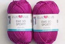 Ewe So Sporty Yarn + Patterns / Ewe So Sporty is a soft and bouncy sport weight Merino super wash yarn available in 20 happy colors. What can you knit or crochet with this yarn? Find out here!