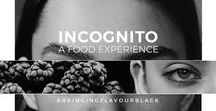 Food Experience - INCOGNITO / Food Design Event  In a changing world where food's appearance has become more prominent than ever, we challenge the mind by unlinking colours from flavours in an achromatic dinner.
