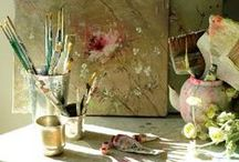 Inside My Box of Crayons... / Inspiring Inspiration Boards, Creative Spaces and Colours..studios, craft rooms, craft organisation and other ideas to create an interesting art room.. / by Meredith Knight