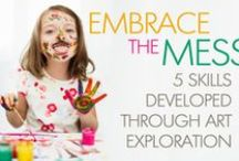 Arts & Crafts / Art is a great way for children to express themselves as they learn! Be inspired with art projects, crafts, and lessons for young children. #ece #art