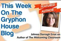 GH Author Interviews / We're starting our GH Author Q&A Series on Gryphon House's blog. Check in every Thursday to see what author will be featured. Do you have #authors you want to hear from? Comment below and you might see them starring in our next post!