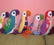 sewn birds