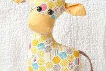 sewn giraffe