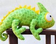 sewn chameleons