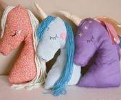 sewn unicorns
