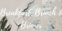 Breakfast, Brunch & Brinner / Who doesn't love a hearty brunch on sundays! And discover the newest food-trend: Brinner = breakfast for dinner! This boards collects original breakfast, brunch and brinner ideas for a healthy start in the day!