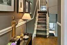 Beautiful hallways / Inspiration on making art a beautiful feature of your home - hallway edition