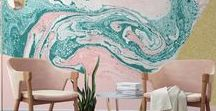 Amazing art walls & murals / Inspiration on making art a beautiful feature of your home - walls edition