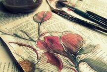 Paintings, drawings, illustrations