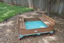 DIY Sandbox Project / building a sandbox on wheels thats awesome