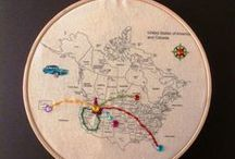 The Big Trip - Travel Embroidery / Travel related fun, just like our embroidery fabric map kits of the World, Australia, and USA & Canada: https://www.etsy.com/au/shop/TravelEmbroidery
