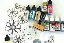 Papercrafting and Ink / Getting passionate with paper, ink, paints, sprays, glitter and other stuff