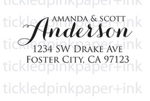 Custom Rubber Stamps / Custom designed rubber stamps for weddings and events.