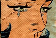 Roy Lichtestein / Comic / Pop Art / Pop art / crying / feelings  / by Queen Bee