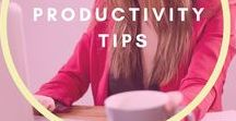 Productivity Tips / Productivity tips and lifehacks for your work. Workspace setup for greater focus and concentration.