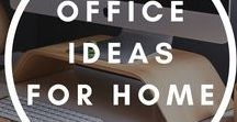 Office ideas for home / Office space ideas for home. Great inspiration for women, stay at home moms.