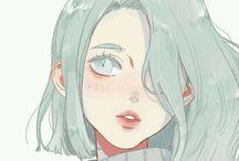 Girl Art / Amazing anime art.