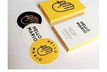 Branding identity / Tablica zawiera szereg identyfikacji biznesowych, rożnego rodzaju firm.
