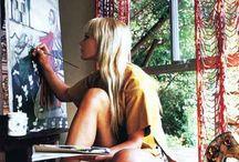 inspire me. / Artists + studio spaces that inspire