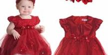 Baby Girls Party Dresses / Get your cute little baby girls dressed for success!  We offer a wide range of gorgeous party dresses for your baby girls' outfit needs (Birthday party dresses, Christmas party dresses, Wedding party dresses).  See more of our baby clothing at https://itty-bitty-kids.com/collections/baby-girls-clothing