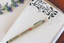 Diary / For friend, luv u so much. Czcionki, rysunki do pamiętnika.