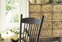 Homes Sweet Homes / Shabby & Chic Decor: Clean fine lines, fill a nook or corner, while creamy outlines, accent a boarder. A blend of old and new entwined, entice visual sight, and welcome one's heart, with open delight. By Babe in the Woods / by Babe in the Woods