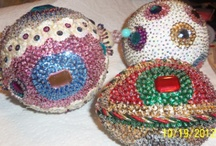 my Christmas ornaments / a few of my Christmas ornaments that I have made over the years, made from old jewelry and thousands of tiny sequins. / by Pamela Cole