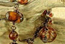 Ceramic Art Bead Jewelry / Handcrafted, ceramic, art bead jewelry