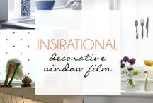 Inspirational Decorative Window Film / This board is not in our 'Pin It To Win It' Competition. Please choose a Decorative Window Film from another board.   *We do not stock the Decorative Window Films on this board. It has been created for inspiration only.