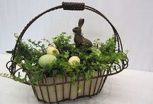 Spring / Spring and Easter Decor- Natural, neutral and rustic