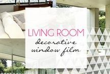 Living Room Decorative Window Film