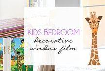 Kids Bedroom Decorative Window Film